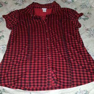 Maurice's checkered snap closure shirt